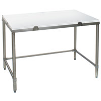 Eagle Group CHT2448S 24 inch x 48 inch Poly Top Stainless Steel Chopping Table - Open Base