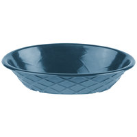 HS Inc. HS1048 9 inch x 5 1/2 inch x 2 inch Blueberry Polyethylene Oval Weave Basket - 24/Case