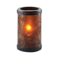 Sterno Products 80308 5 inch Mica Liquid Candle Holder with Bronze Accent Rings