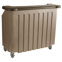 Cambro BAR540DS672 Granite Sand and Cocoa Designer Series Cambar 54 inch Portable Bar with 5-Bottle Speed Rail