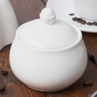 Chef & Sommelier S0116 Embassy 10 oz. White Covered Sugar Bowl by Arc Cardinal - 16/Case