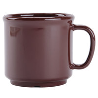 GET S-12-BR Ultraware 12 oz. Brown SAN Plastic Mug - 24/Case