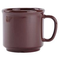 GET S-12-BR Ultraware 12 oz. Brown SAN Plastic Mug - 24/Case