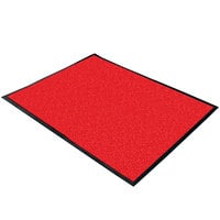 Cactus Mat 1470M-48 4' x 8' Red Machine Washable Rubber-Backed Carpet Mat - 3/8 inch Thick