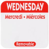 National Checking Company R103R 1 inch Wednesday Day of the Week Removable Label   - 1000/Roll
