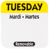 National Checking Company R102R 1 inch Tuesday Day of the Week Removable Label   - 1000/Roll