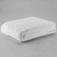 100% Cotton Hotel Blanket - Thermal Herringbone - White Queen 90 inch x 90 inch - 12/Case