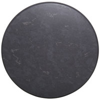 BFM Seating GS30R SoHo 30 inch Round Outdoor / Indoor Tabletop - Gray Slate