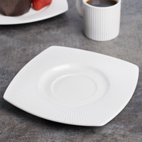 Chef & Sommelier S0541 Ginseng 6 inch Square Saucer by Arc Cardinal - 24/Case