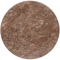 BFM Seating BB24R SoHo 24 inch Round Outdoor / Indoor Tabletop - Baltic Brown