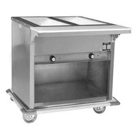 Eagle Group PHT2OB Portable Electric Hot Food Table with Enclosed Base - Two Pan - Open Well, 120V