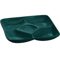 Tablecraft CW4200HGNS 11 inch x 11 inch Hunter Green with White Speckle Cast Aluminum Appetizer Plate