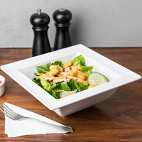 American Metalcraft MEL40 Endurance 2.1 Qt. Square Melamine Bowl with Rim