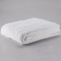 100% Cotton Hotel Blanket - Thermal Herringbone - White Full 80 inch x 90 inch
