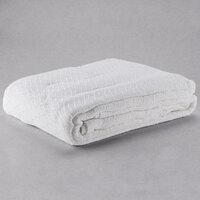 100% Cotton Hotel Blanket - Jodhpur Diamond - White Queen 90 inch x 90 inch