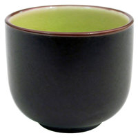 CAC 666-WC-G Japanese Style 1.5 oz. China Sake Cup - Golden Green - 72 / Case