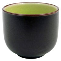 CAC 666-WC-G Japanese Style 1.5 oz. China Sake Cup - Golden Green - 72/Case