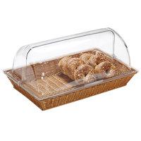 GET WB-1553-HY 16 1/4 inch x 11 inch x 2 1/2 inch Designer Polyweave Honey Rectangular Basket - 12 / Case