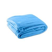 Fleece Hotel Blanket - 100% Polyester - Light Blue Queen 90 inch x 90 inch