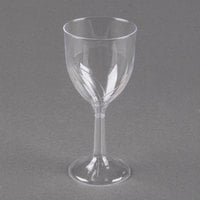 WNA Comet CWSWN6 6 oz. 1-Piece Clear Plastic Classicware Wine Glass   - 10/Pack