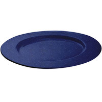 Tablecraft CW11004BS 16 inch Blue Speckle Cast Aluminum Round Serving Plate