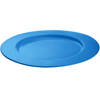 Tablecraft CW11004SBL 16 inch Sky Blue Cast Aluminum Round Serving Plate
