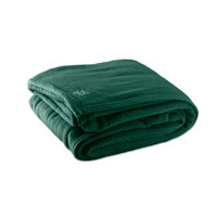 Fleece Hotel Blanket - 100% Polyester - Jade Green Queen 90 inch x 90 inch