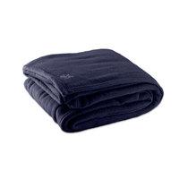 Fleece Hotel Blanket - 100% Polyester - Navy Blue Twin 66 inch x 90 inch