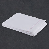 Flat Hotel Sheet - 200 Thread Count Cotton / Poly - White Twin 66 inch x 108 inch - 12 / Case