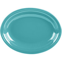 Homer Laughlin 457107 Fiesta Turquoise 11 5/8 inch Medium Oval Platter   - 12/Case