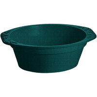 Tablecraft CW1420HGNS 3.5 Qt. Hunter Green with White Speckle Cast Aluminum Small Oval Casserole Dish