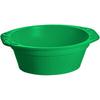 Tablecraft CW1420GN 3.5 Qt. Green Cast Aluminum Small Oval Casserole Dish