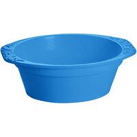 Tablecraft CW1420SBL 3.5 Qt. Sky Blue Cast Aluminum Small Oval Casserole Dish