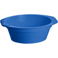 Tablecraft CW1420BL 3.5 Qt. Cobalt Blue Cast Aluminum Small Oval Casserole Dish