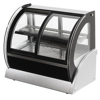 Vollrath 40882 60 inch Curved Refrigerated Countertop Display Cabinet with Front Access