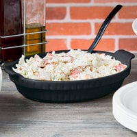 Tablecraft CW1380MBS 1.5 Qt. Midnight with Blue Speckle Cast Aluminum Small Shallow Oval Casserole Dish