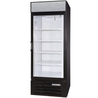 Beverage Air LV27-1-B-LED Black LumaVue 30 inch Refrigerated Glass Door Merchandiser with LED Lighting - 27 Cu. Ft.