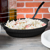 Tablecraft CW1380BKGS 1.5 Qt. Black with Green Speckle Cast Aluminum Small Shallow Oval Casserole Dish