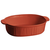 Tablecraft CW2095CP Copper 4 Qt. Oval Casserole Dish with Ridges