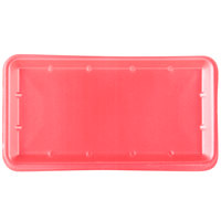 Genpak 1025S (#25S) Foam Meat Tray Rose 8 inch x 14 3/4 inch x 1 1/16 inch - 250/Case