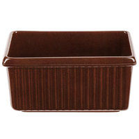 Tablecraft CW1530MAS 3 Qt. Maroon Speckle Rectangle Server with Ridges