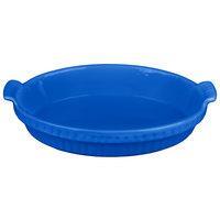 Tablecraft CW1380CBL 1.5 Qt. Cobalt Blue Cast Aluminum Small Shallow Oval Casserole Dish