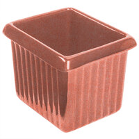 Tablecraft CW1520GG 1 Qt. Ginger Cast Aluminum Rectangle Server with Ridges