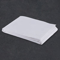 Flat Hotel Sheet - 300 Thread Count Cotton / Poly - White Queen Extra-Long 94 inch x 120 inch - 12 / Case