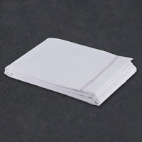 Flat Hotel Sheet - 200 Thread Count Cotton / Poly - White Queen Extra-Long 90 inch x 120 inch - 12 / Case