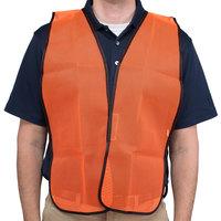 Orange High Visibility Safety Vest - 25 inch x 18 inch