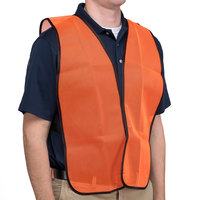 Orange High Visibility Safety Vest - 25 inch x 18 inch