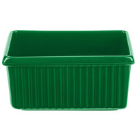 Tablecraft CW1530GN 3 Qt. Green Rectangle Server with Ridges