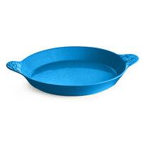 Tablecraft CW2160SBL 24 oz. Sky Blue Round Au Gratin Dish with Handles