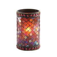 Sterno Products 80110 4 3/4 inch Red Beaded Mosaic Liquid Candle Holder